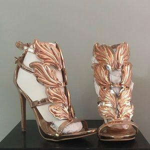 Rose gold Windsor high heels